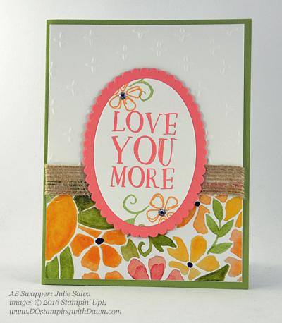 Stampin' Up! Fruit Stand swap cards shared by Dawn Olchefske #dostamping #stampinup (Julie Salva)