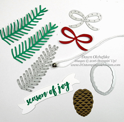 Stampin' Up! Christmas Pines Bundle, Twist Gate Fold Card by Dawn Olchefske #dostamping