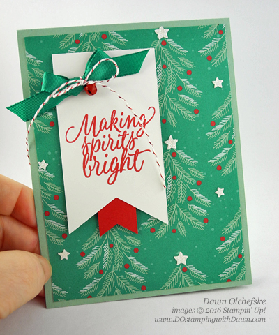 Stampin' Up! Presents & Pinecones cards created by Dawn Olchefske #dostamping