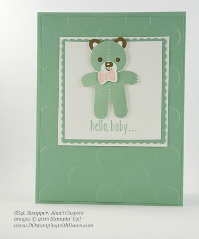 Stampin' Up! Cookie Cutter Bundle swap cards shared by Dawn Olchefske #dostamping #stampinup (Shari Caspers)