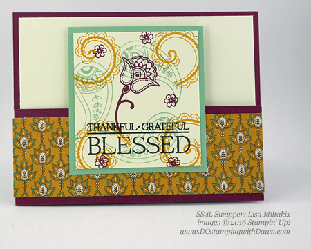 Stampin' Up! Paisleys & Posies swap cards shared by Dawn Olchefske #dostampin #stampinup (Lisa Miltakix)