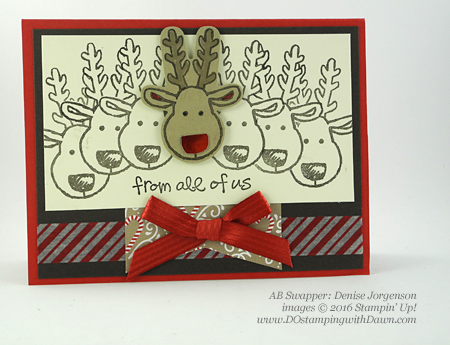 Stampin' Up! Cookie Cutter Christmas swap cards shared by Dawn Olchefske #dostamping #stampinup (Denise Jorgenson)