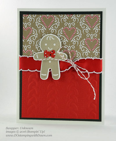 Stampin' Up! Cookie Cutter Christmas swap cards shared by Dawn Olchefske #dostamping #stampinup (Unknown)