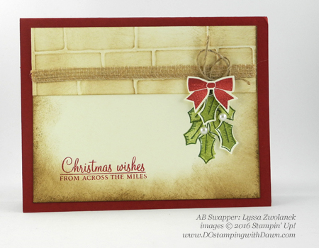 Stampin' Up! Holly Berry Happiness swap cards shared by Dawn Olchefske #dostamping #stampinup (Lyssa Zwolanek)