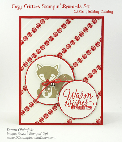 Stampin' Up! Cozy Critters with Seasonal Decorative Mask card created by Dawn Olchefske for DOstamperSTARS Thursday Challenge #DSC202 #dostamping