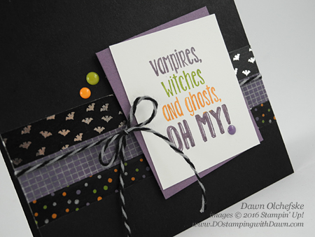 Stampin' Up! Suite Seasons & Halloween Night card created by Dawn Olchefske for DOstamperSTARS Thursday Challenge #DSC204 #dostamping
