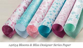 Stampin'  Up! Blooms & Bliss Designer Series Paper #dostamping