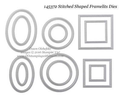 145372 Stampin' Up! Stitched Shaped Framelits Dies #dostamping