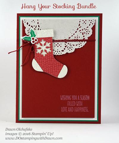 Stampin' Up! Hang Your Stockings Bundle by Dawn Olchefske for DOstamperSTARS Thursday Challenge #DSC207 #dostamping