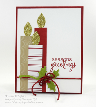 Festive Flower Builder Punch card created by Dawn Olchefske #dostamping