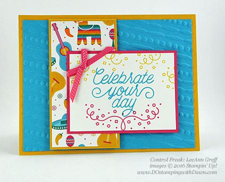 Festive Textured Impressions Embossing Folder Swap card shared by Dawn Olchefske #dostamping (LeeAnn Greff)