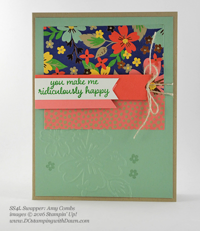 Affectionately Yours Swap card shared by Dawn Olchefske #dostamping (Amy Combs)