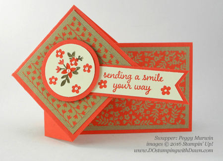 Affectionately Yours Swap card shared by Dawn Olchefske #dostamping (Peggy Murwin)