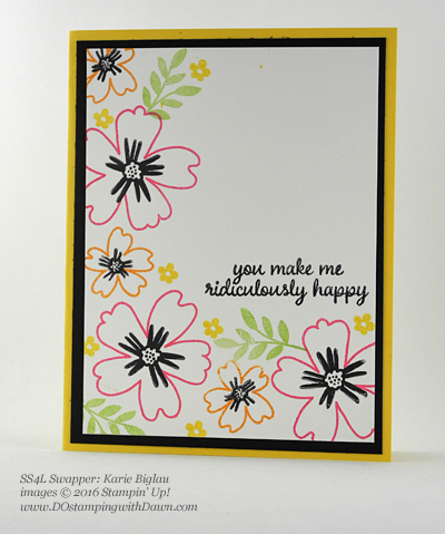 Affectionately Yours Swap card shared by Dawn Olchefske #dostamping (Karie Biglau)