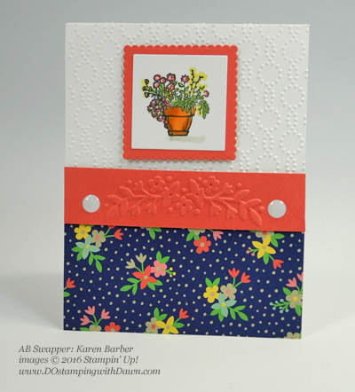 Affectionately Yours Swap card shared by Dawn Olchefske #dostamping (Karen Barber)