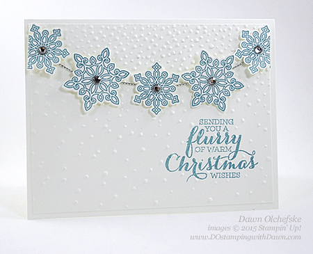 Flurry of Wishes and Snow Flurry Punch card created by Dawn Olchefske #dostamping