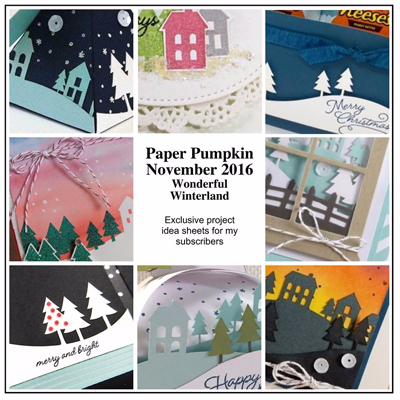 Exclusive Bonus Projects for Stampin' Up! Paper Pumpkin Dec 2016 Kit Wonderful Winterland, Subscriber Bonus offered by Dawn Olchefske #dostamping