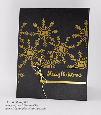 Stampin' Up! Tin of Tags Metallic card by Dawn Olchefske for DOstamperSTARS Thursday Challenge #DSC210 #dostamping