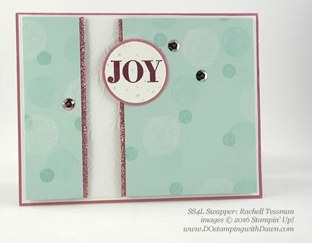Holly Jolly Greetings swap card shared by Dawn Olchefske #dostamping (Rachel Tessman)