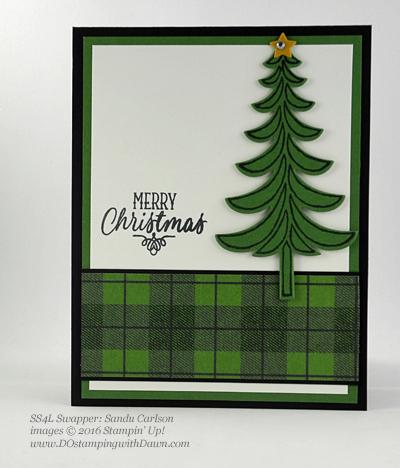 Santa's Sleigh Bundle swap card shared by Dawn Olchefske #dostamping (Sandy Carlson)