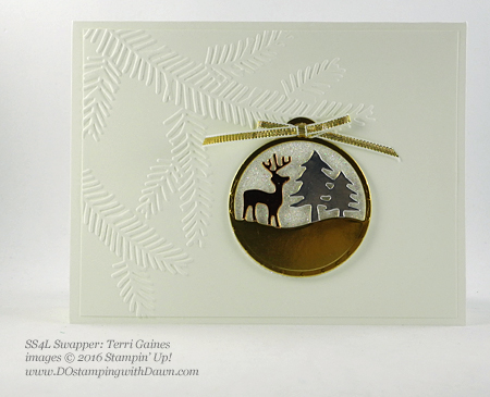 Merriest Wishes Bundle swap card shared by Dawn Olchefske #dostamping (Terri Gaines)