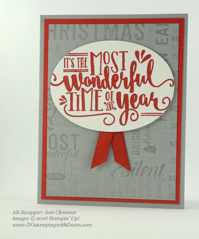 Wonderful Year/Merry Medley swap card shared by Dawn Olchefske #dostamping (Ann Clemmer)
