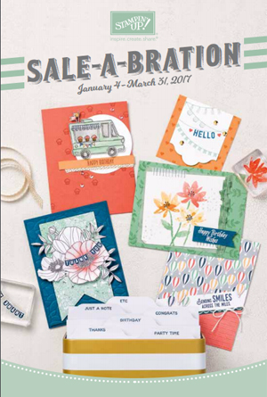 Free product with Stampin' Up! 2017 Sale-A Bration Brochure #dostamping