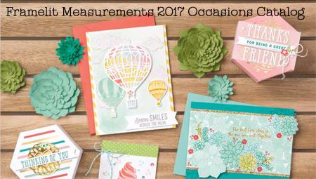 Stampin' Up! 2017 Occasions Catalog Framelits Measurements