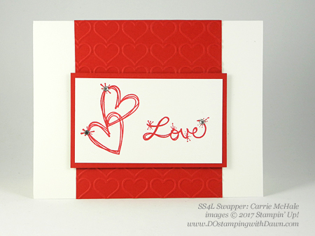 Valentine Swap card shared by Dawn Olchefske #dostamping (Carrie McHale