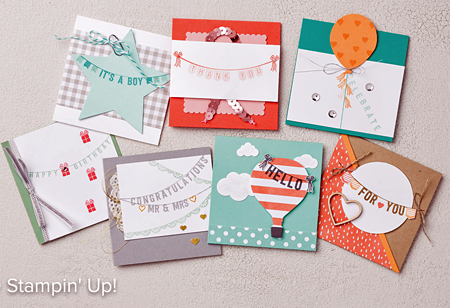 Stampin' Up! Sale-a-Bration Any Occasions stamp set ideas shared by Dawn Olchefske #dostamping