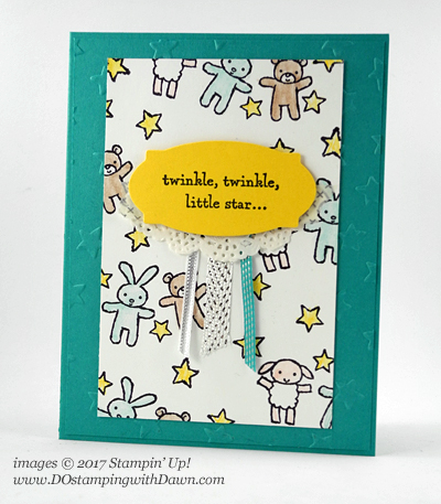 Stampin' Up! Moon Baby cardshared by Dawn Olchefske #dostamping