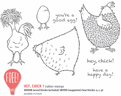 Stampin' Up! Hey Chick Sale-a-Bration free choice, Shop with Dawn Olchefske #dostamping
