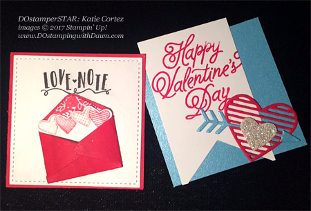 Valentine projects created by DOstamperSTARS #dostamping (Katie Cortez)