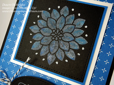 Stampin' Up! Flourishing Phrases Black Magic with a Wink & a Twist cardby Dawn Olchefske #dostamping