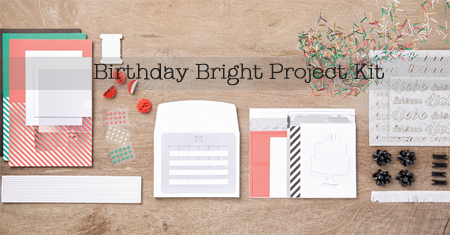 Stampin' Up! Birthday Bright Project Kit shared by Dawn Olchefske #dostamping