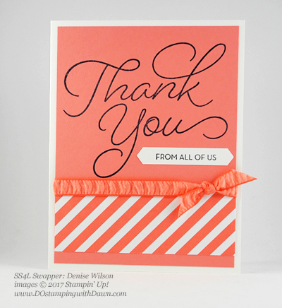 Stampin' Up! Sale-A-Bration Inspiration swap cards shared by Dawn Olchefske #dostamping (Denise Wilson)