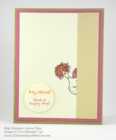 Stampin' Up! Sale-A-Bration Inspiration swap cards shared by Dawn Olchefske #dostamping (Karen Titus)