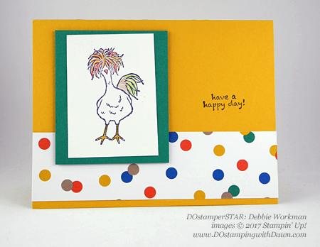 Stampin' Up! DOstamper STARS SAB Inspirationswap cards shared by Dawn Olchefske #dostamping(Debbie Workman)