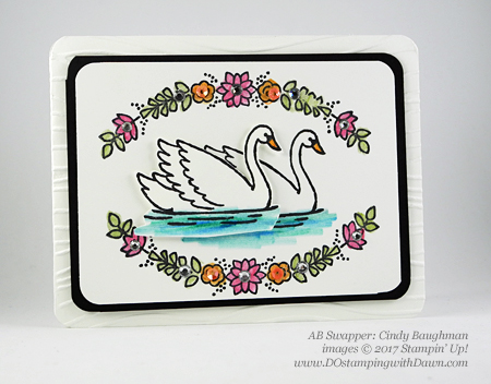 Stampin' Up! Watercolor Pencils swaps sharedby Dawn Olchefske #dostamping(Cindy Baughman)