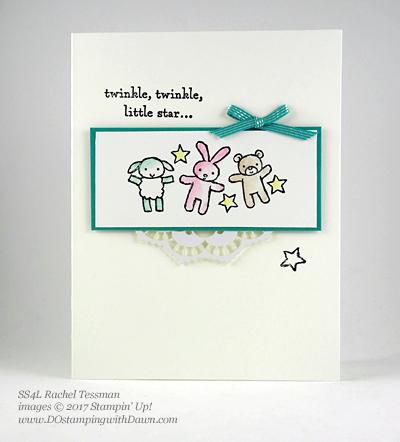 Stampin' Up! Watercolor Pencils swaps sharedby Dawn Olchefske #dostamping(Rachel Tessman)