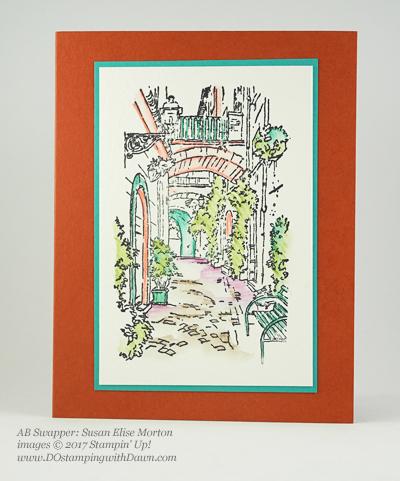 Stampin' Up! Watercolor Pencils swaps sharedby Dawn Olchefske #dostamping(Susan Elise Morton)