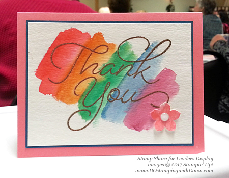 Stampin' Up! Sale-a-Bration So Very Much card shared by Dawn Olchefske #dostamping