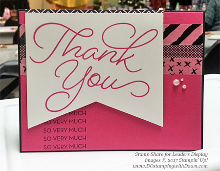 Stampin' Up!Sale-a-Bration So Very Much card shared by Dawn Olchefske #dostamping