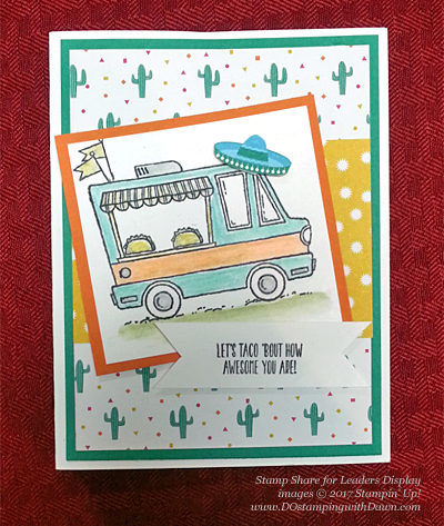 Stampin' Up! Sale-a-Bration Tasty Trucks card shared by Dawn Olchefske #dostamping