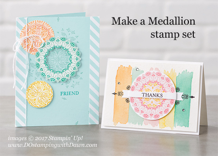 Make A Medallion stamp set, Stampin' Up! Sale-a-Bration 2nd Release shared by Dawn Olchefske #dostamping