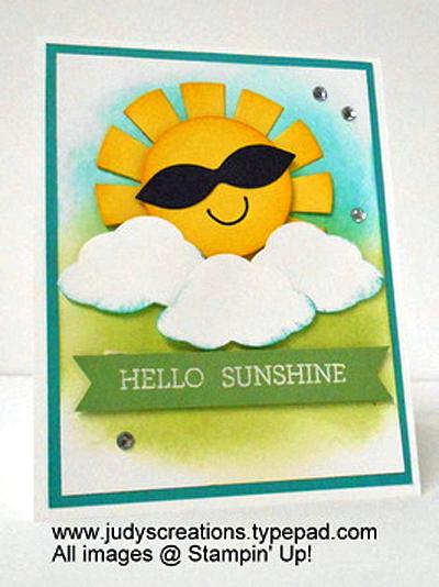 Stampin' Up! DOstamper STARS Friday Featurecards shared by Dawn Olchefske #dostamping(Judy Strickling)