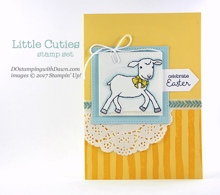 Stampin' Up! Little Cuties cardshared by Dawn Olchefske #dostamping
