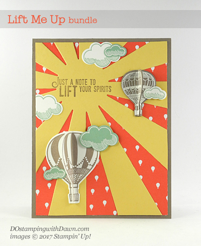 Stampin' Up! Lift Me Up Bundle 3D card created by Dawn Olchefske #dostamping