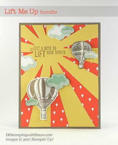 Stampin' Up! Lift Me Up Bundle 3D card createdby Dawn Olchefske #dostamping