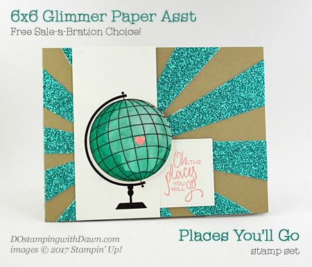 Stampin' Up! Places You'll Go card shared by Dawn Olchefske #dostamping